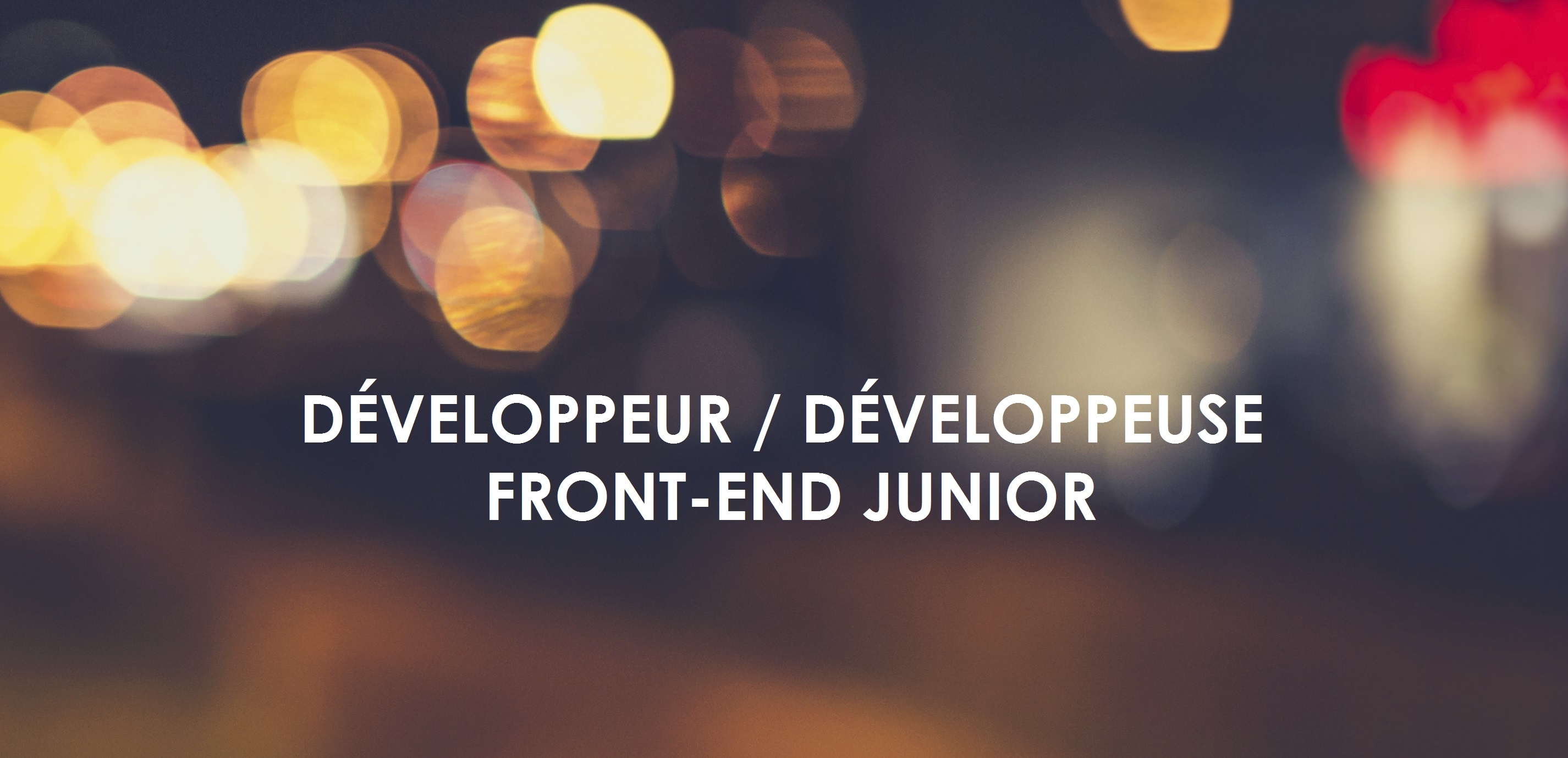 dev front-end junior